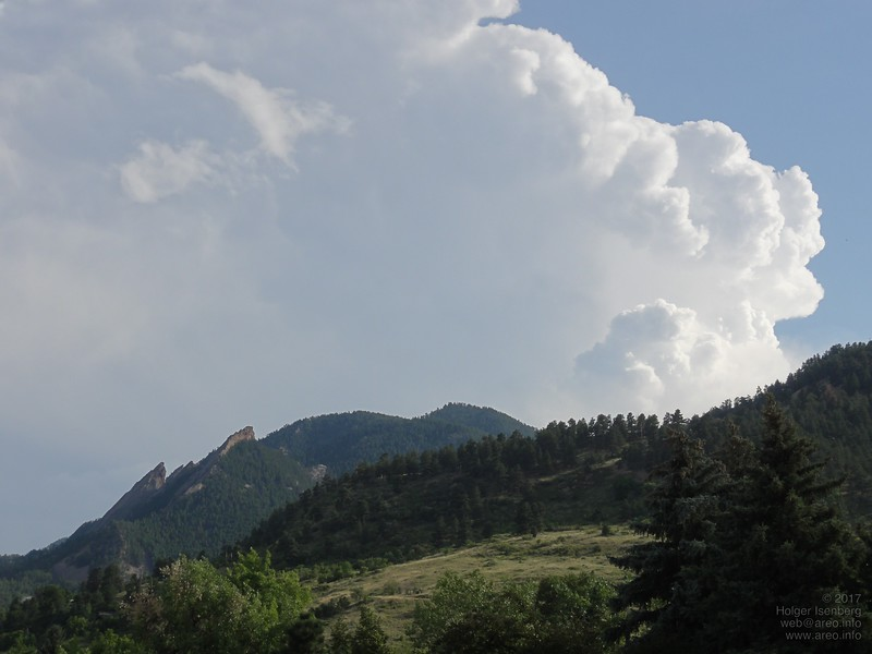 "Flatiron rocks, viewed from my lodging in downtown Boulder, CO. Booked via <a href=""http://airbnb.com"">http://airbnb.com</a> which I can highly recommend!"