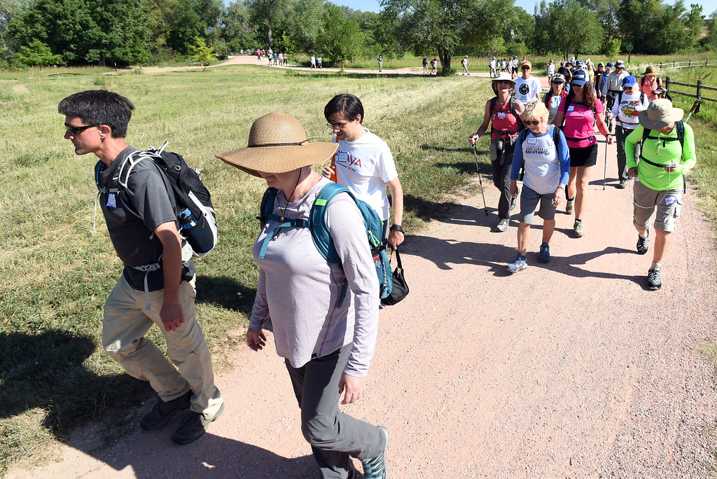 """. Dozens participated in the \""""Slow Marathon\"""" around the trails of Boulder on Saturday. The Boulder Walk 360 \'Slow marathon,\' is a 26-mile walk around Boulder on Saturday.  For more photos and a video, go to dailycamera.com Cliff Grassmick  Staff Photographer  June 30, 2018"""