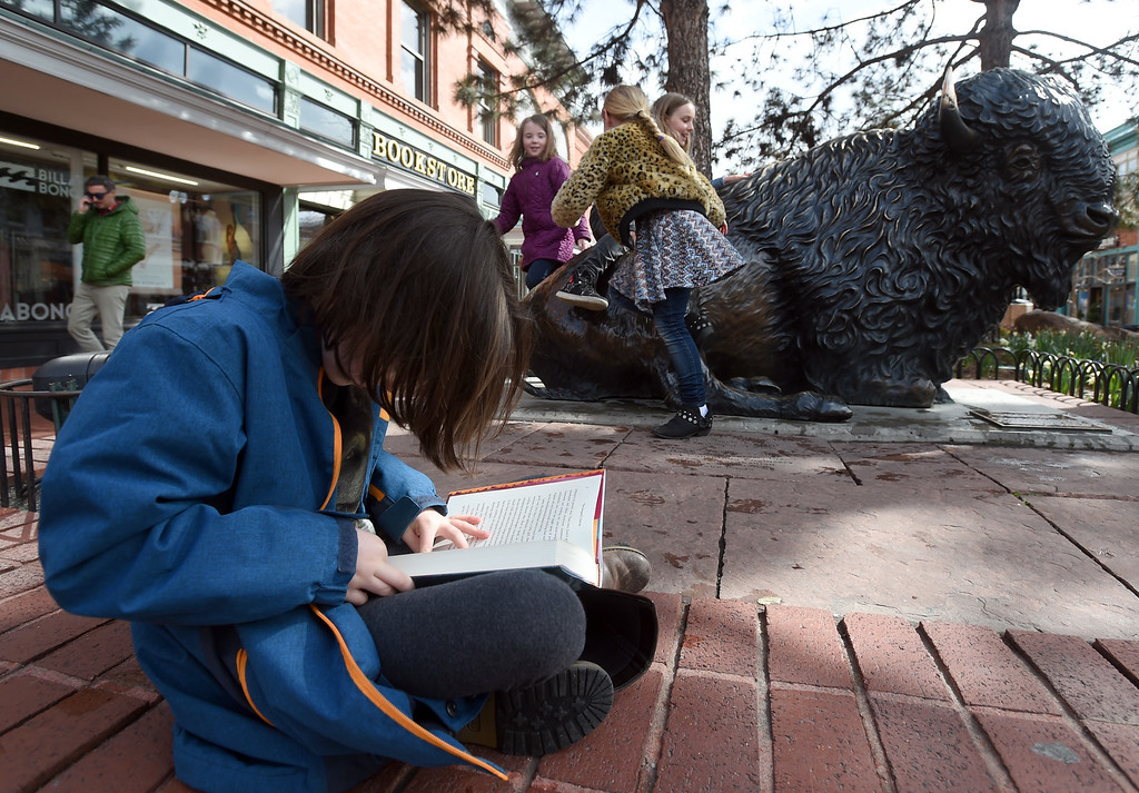 . Isabel Rueschemeyer can\'t what to read her book outside the Boulder Book Store on Thursday.  at the Boulder Book Store on Thursday. The Boulder Book Store was named the best book store in the country by Publisher\'s Weekly. For more photos, go to dailycamera.com. Cliff Grassmick  Photographer  March 29, 2018