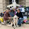 Moses Comfort Dog at the Police Officer Memorial