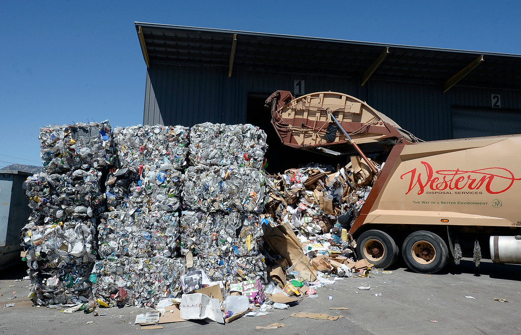 . A Western Disposal truck drops off recyclables on Friday. Boulder County and Eco-Cycle have weathered the market fallout that has impacted other recycling services in the country resulting largely from Chinese policy changes to materials the country accepts via imports. For more photos, go to dailycamera.com. Cliff Grassmick  Staff Photographer  June 1, 2018