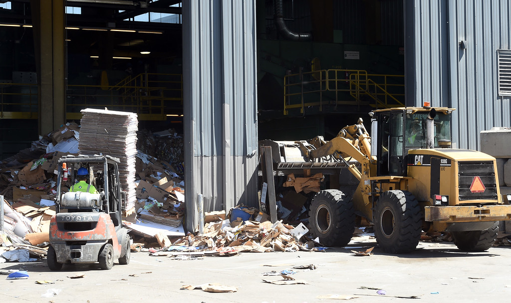. Materials are constantly moving at the Boulder County Recycling Center on Friday. Boulder County and Eco-Cycle have weathered the market fallout that has impacted other recycling services in the country resulting largely from Chinese policy changes to materials the country accepts via imports. For more photos, go to dailycamera.com. Cliff Grassmick  Staff Photographer  June 1, 2018