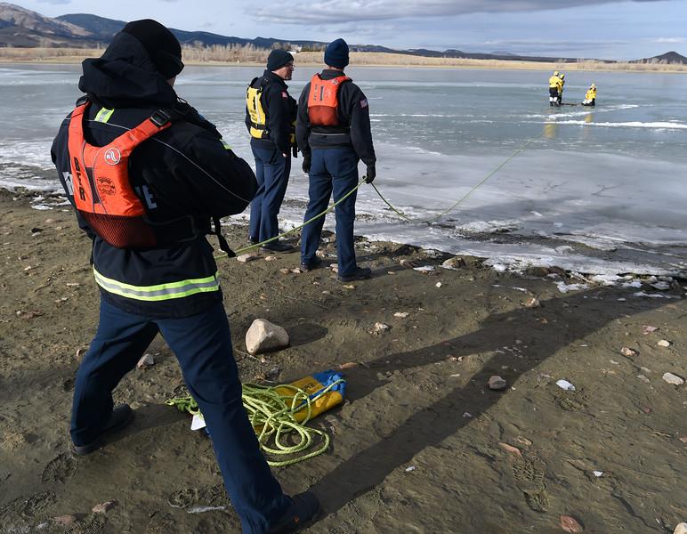 Boulder Fire-Rescue Ice Rescue Training