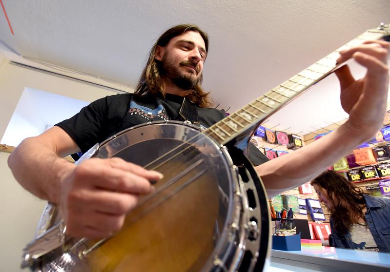 Boulder Guitars on Pearl Boulder CTE Art Show