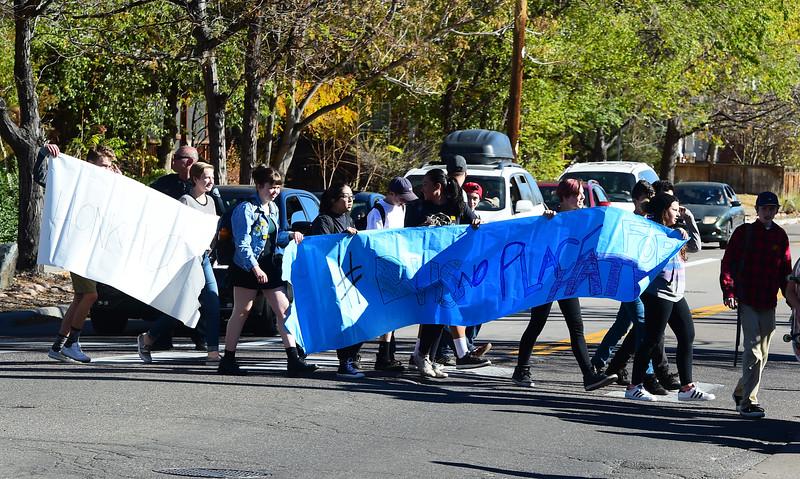 Boulder High Election Protest
