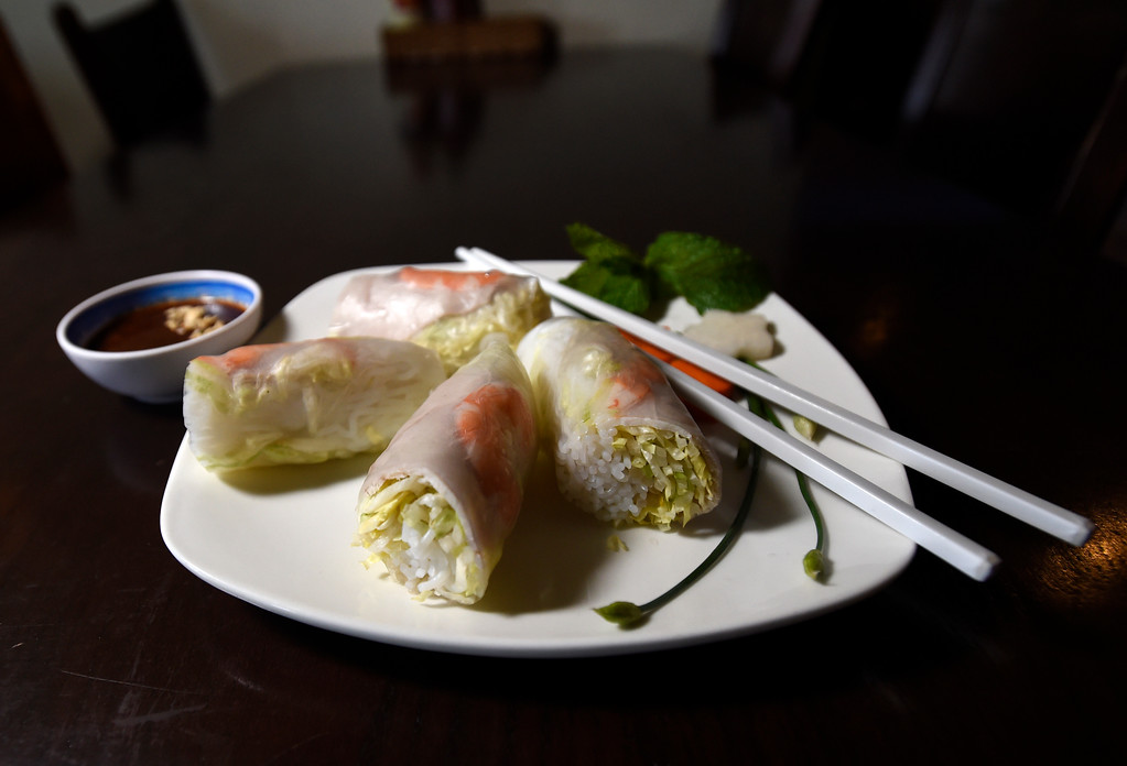 . Traditional spring rolls at Boulder Pho on Monday in Boulder. For more photos of the food at Boulder Pho go to dailycamera.com Jeremy Papasso Staff Photographer July, 31 2017