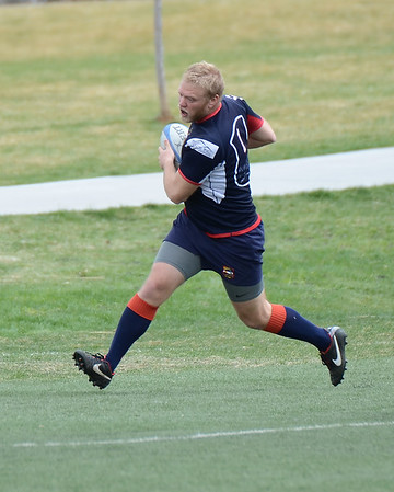 Boulder Men's Rugby vs Glendale Raptors Development Team game at Infinity Park in Glendale, Colorado. April 12, 2014