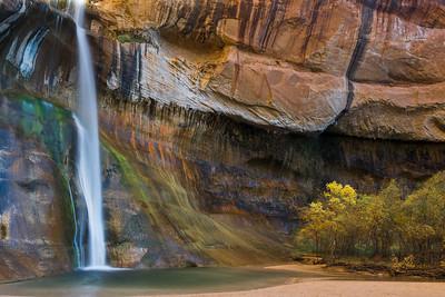Waterfall, Calf Creek Canyon, Boulder, Utah.