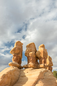 Hoodoos at Devil's Garden Boulder, Utah.