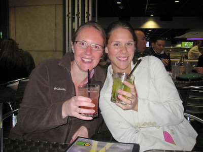 Kelly and Nicole enjoying some additional beverages at the Mellow Mushroom