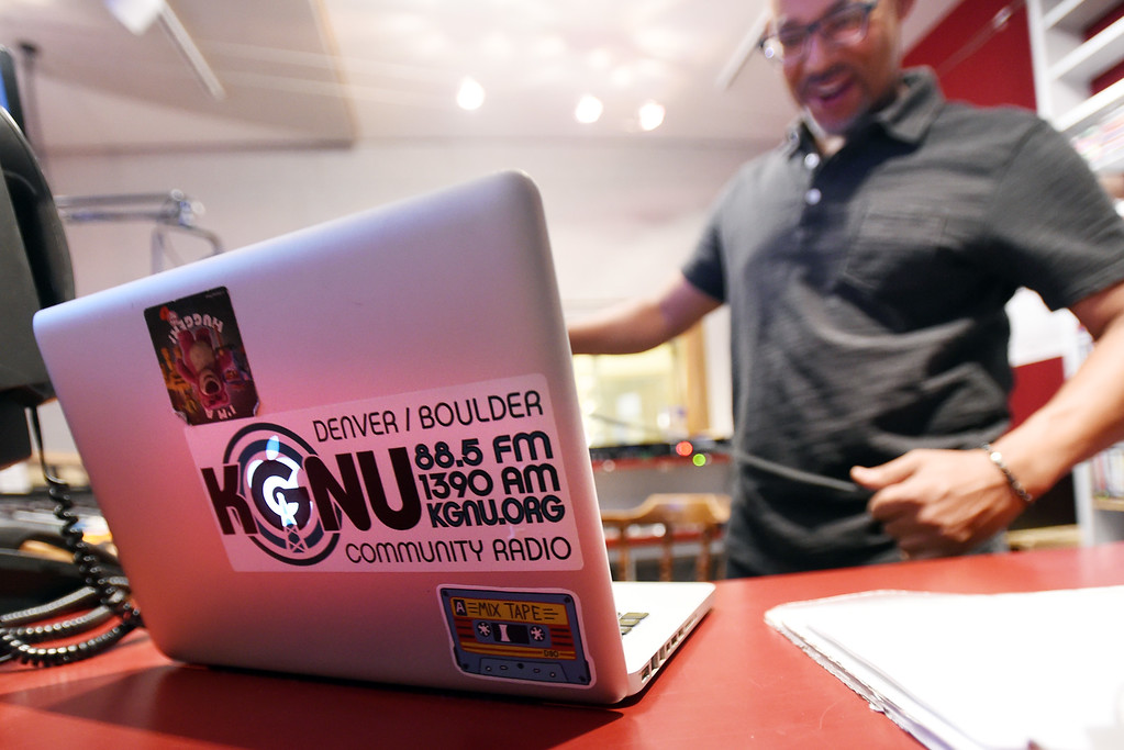 . Jon Walton, Chair of the Board, works on a project on Wednesday.  Boulder\'s KGNU community radio station is turning 40 this year and is hosting some events throughout the year to commemorate. For more photos, go to dailycamera.com. Cliff Grassmick  Photographer  May 9,  2018