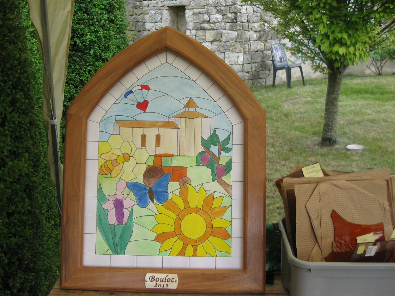 The final design with frame.  Visitors would choose which piece they wanted to make.  We also used this master to keep track of which pieces were done.