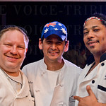 Sous Chef Matthew Purzycki, Chef Paul Sant and Banquet Chef Ramon Nieves.