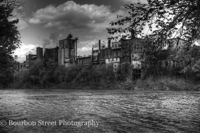 Buffalo Trace Distillery as seen from the Kentucky River.
