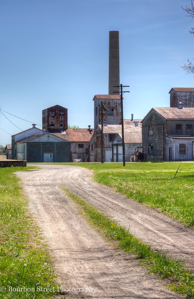 T. W. Samuels Distillery in Deatsville KY.  Most of the rickhouses are now used by Heaven Hill.