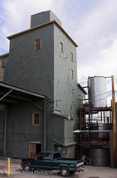 Grain unloading area