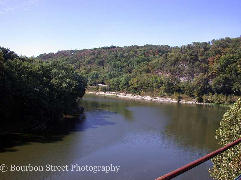 The Kentucky River viewed from the roof of the distillery.