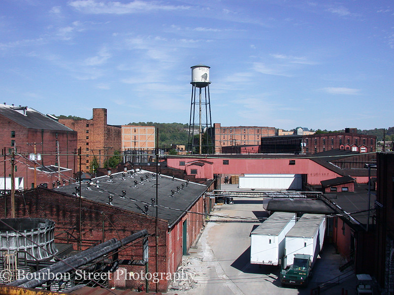 A view of the Buffalo Trace Distillery grounds from the roof.