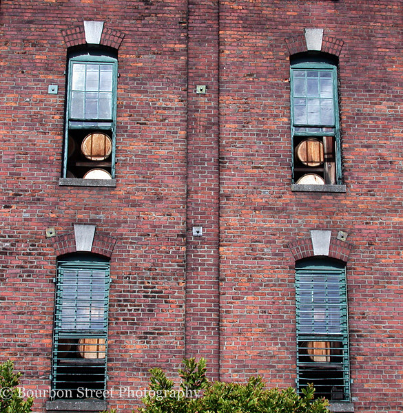Barrels peeking from warehouse 'C'.