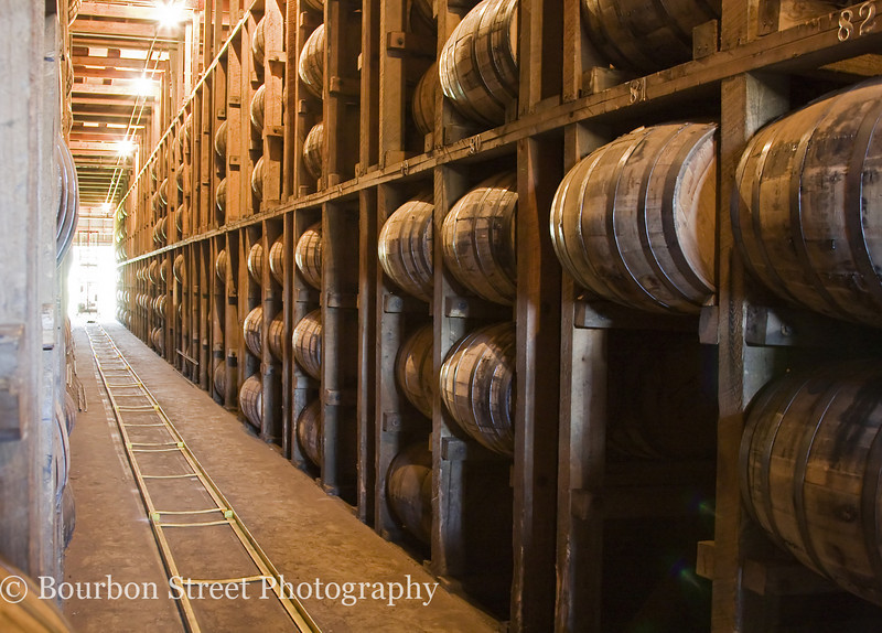 Inside one of Four Roses 20 warehouses.