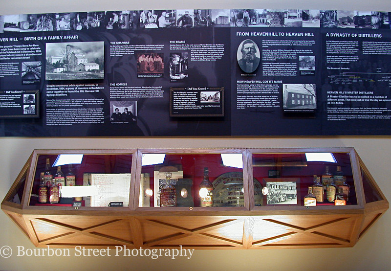 One of many displays, this one lays out the history of the Heaven Hill Distillery.