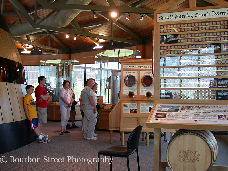 Some of the interactive displays at the gift shop end of the building.  The curved wall to the left is the outside wall of the barrel shaped tasting room.