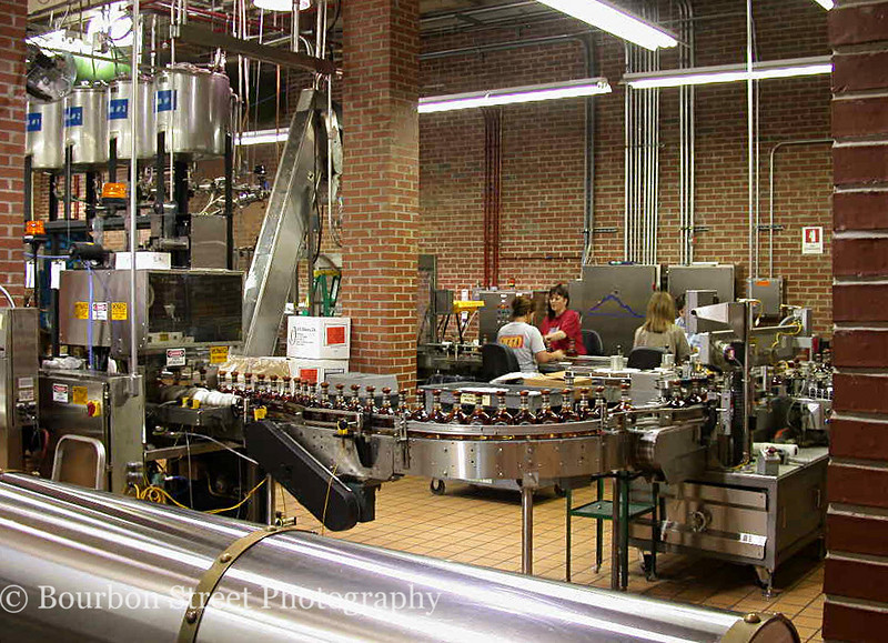 The Jack Daniel's Single Barrel bottling line.