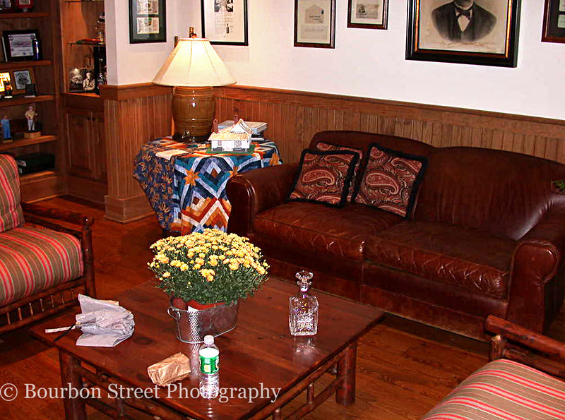 The 'Tennessee Squires' lounge.  <br /> <br /> Members of the Tennessee Squires Association, an honorary group of Jack Daniel's enthusiasts, have access to a private lounge to relax while visiting the distillery.