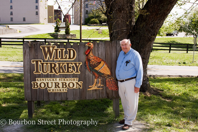 Jimmy Russell, Master Distiller at Wild Turkey.  Jimmy has worked at the distillery since 1954!  It is not unusual to find him relaxing on the visitors center porch talking with the visitors.