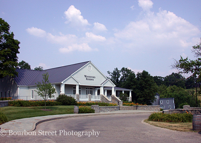 The Woodford Reserve visitors center.  The distillery is surrounded by miles of rolling hills, in the heart of horse country.