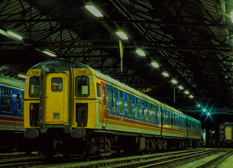 """CIG 1318 on display inside the Cleaning Shed at the """"Bournemouth Rail Gala"""" <br /> on 16th May 1998."""