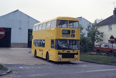 Bournemouth Transport 197 Depot Bournemouth 1 May 87