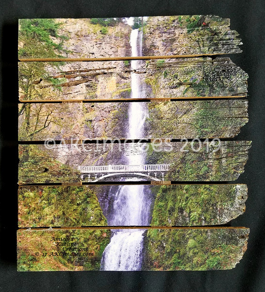 """Multnomah Falls, Number 2. Full Color. Medium.<br /> 13""""X15"""" , $75 each plus shipping.<br /> ** Available at The Strern Wheeler Gorge  Gift Shop at Cascade Locks**<br /> 90 Available"""