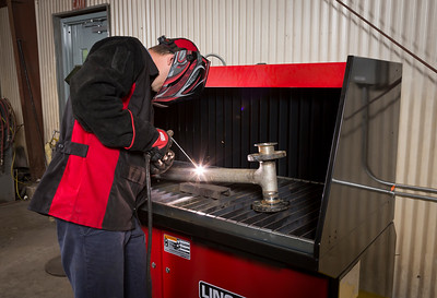 Stick Welding on Downflex 400-MS/A Downdraft Table