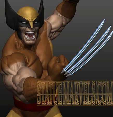 Wolverine Brown Costume Action
