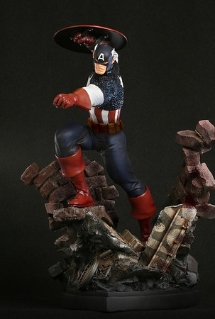 Captain America Action Statue
