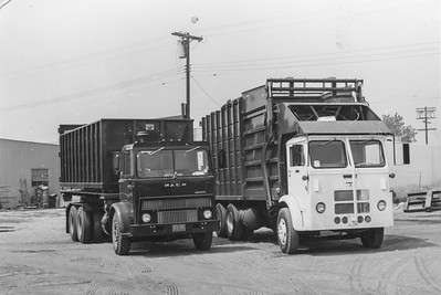 60's Mack MB Roll Off and White Compact Bowles Front Loader