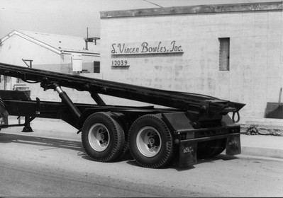 Mack F Series Cabover with Bowles Roll Off Trailer