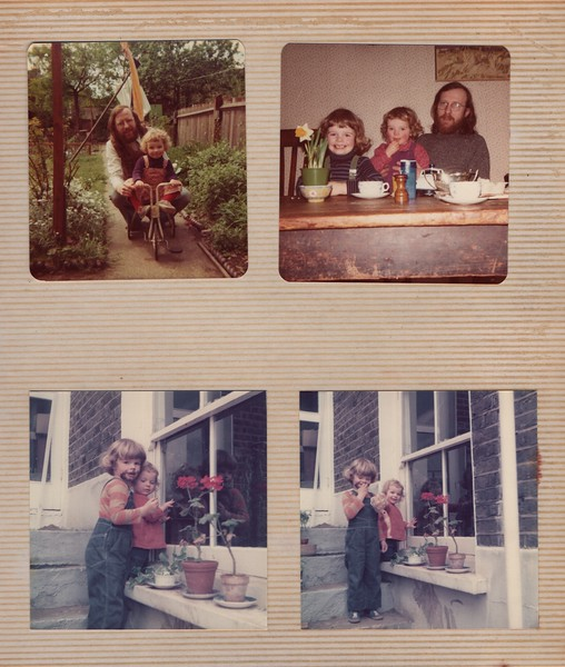 Upper photo at Nana's, lower ones at Jerningham Road