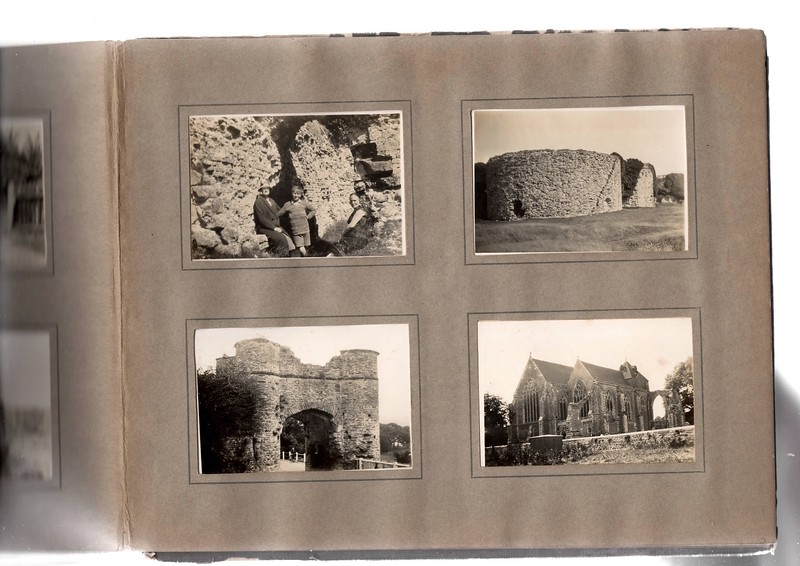 Top left; ?, ? & ? at Camber Castle near Winchelsea.
