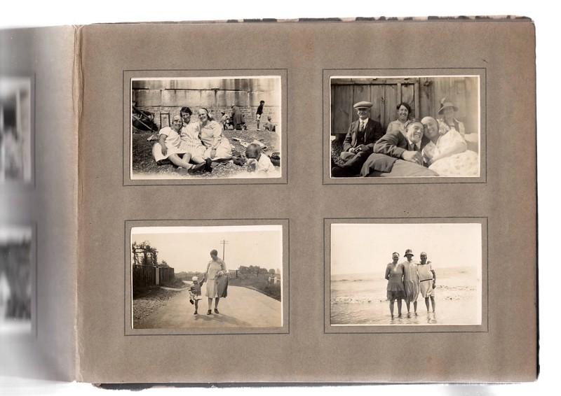 Top left; ?, Agnes Bowles & ?.<br /> Bottom left; Vera Bowles & Agnes Bowles.<br /> Top right; ?, Agnes Bowles, ?, ? & ?.<br /> Bottom right; ?, Angnes Bowles & ?.