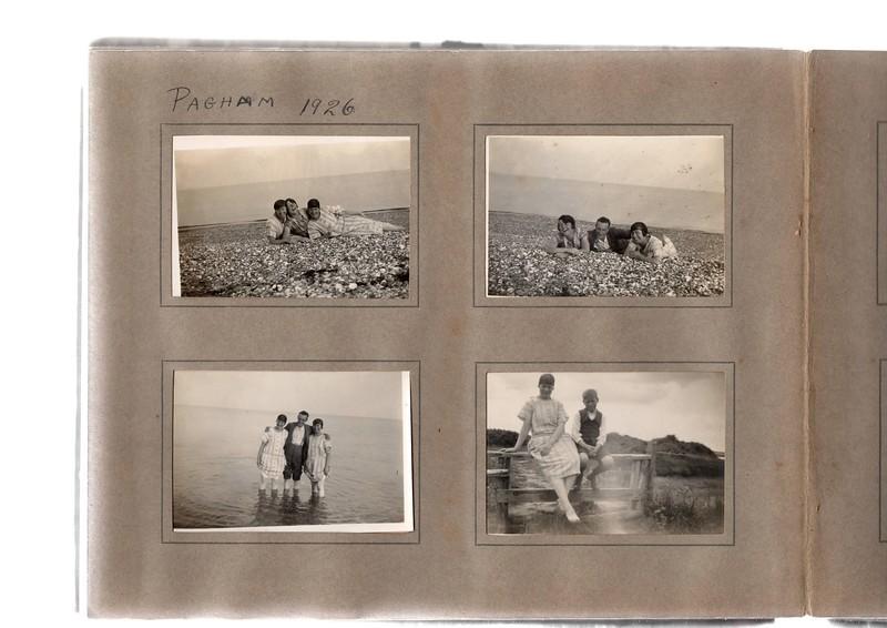 Top left; ?, ? & Agnes Bowles.<br /> Bottom left; Agnes Bowles, ? & ?.<br /> Top right; ?, ? & Agnes Bowles.<br /> Bottom right; Agnes Bowles & ?.