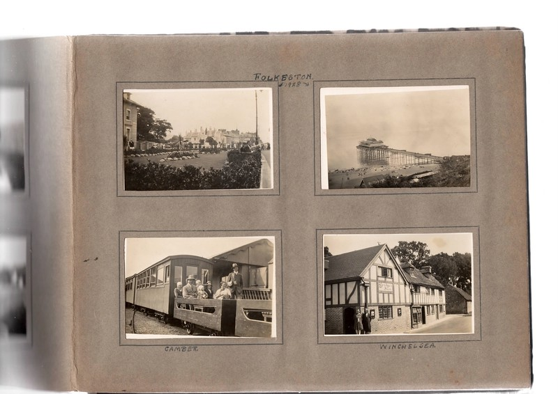 Bottom left; ?, ?, Agnes Bowles, Vera Bowles, ? and ticket collector.<br /> Bottom right; ? & ?.