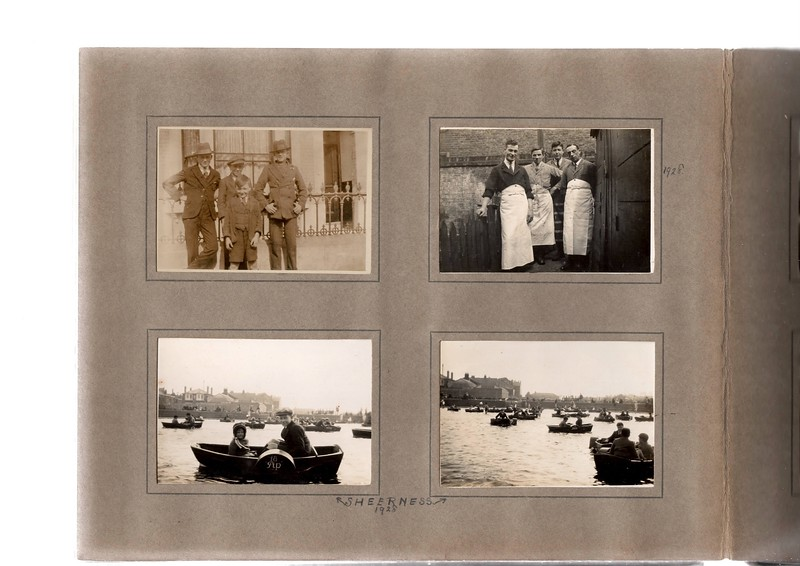 Top left; ?, ?, ? & ?.<br /> Bottom left; Vera Bowles & Herbert Bowles? at Bognor Regis?<br /> Top right; ?, ?, & ?.