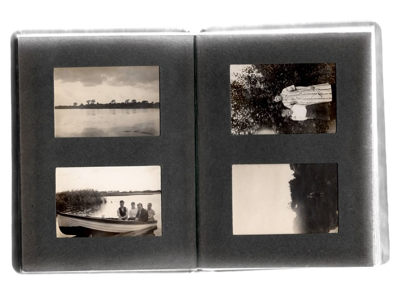 Bottom left; ?, ?, ? & ?.<br /> Top right; ? & Agnes Bowles.