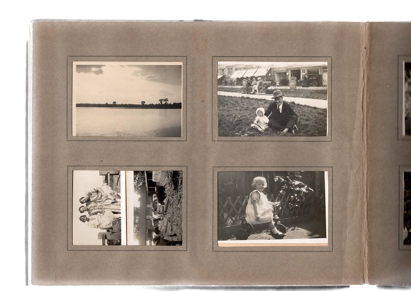 Bottom left; ?, ? & ?.<br /> Top right; Vera Bowles and ?. This is definitely in Bognor Regis as we have been to the garage behind them... it's still there!!! See photo below of how it looks now.<br /> Bottom right; Vera Bowles.