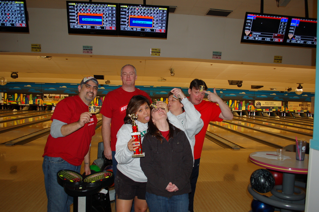 2nd place and team high pin: Here for the beer