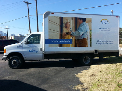 Visiting Nurses Association, Meals on Wheels, Box Truck, Dallas, TX