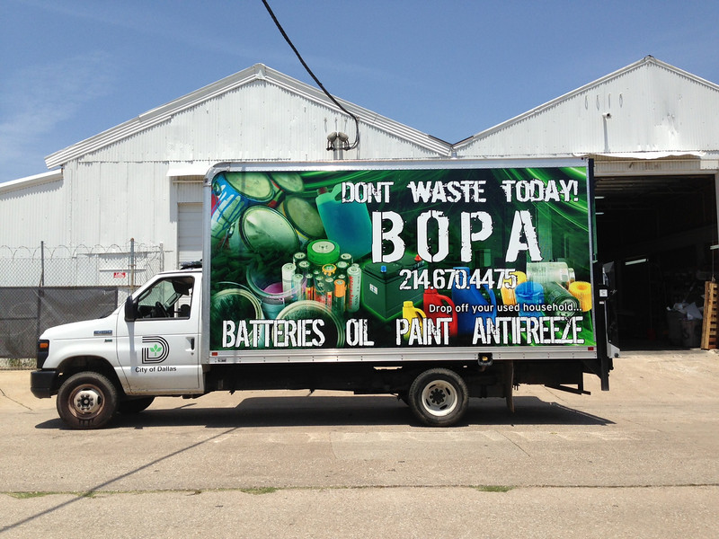 City of Dallas, Waste Diversion, Box Truck, Dallas, TX