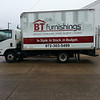 BT Furnishings, 14' box truck, Dallas, TX